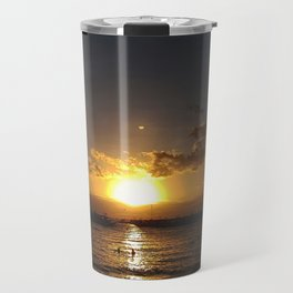 Sunset By The Beach Travel Mug
