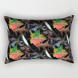 Gradient Autumn Leaf Rectangular Pillow
