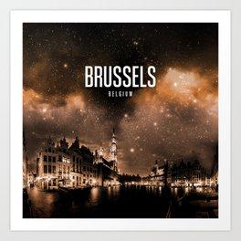 Brussels Wallpaper Art Print