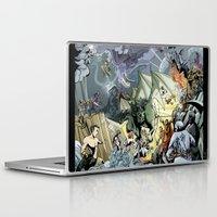 nightcrawler Laptop & iPad Skins featuring Marvel Heroes Fantasy AU by TwoHorizons
