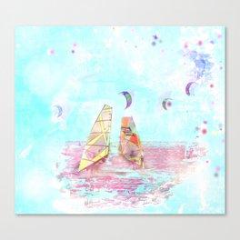 Surfen on Baltic sea Canvas Print
