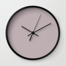 Annas Song Solid Soft Dusty Rose Wall Clock