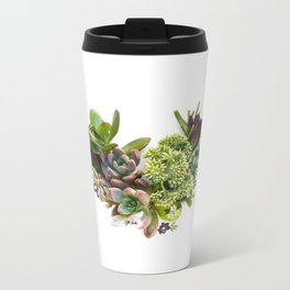 Succulent heart Metal Travel Mug