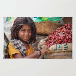 Girl with Chilies Rug