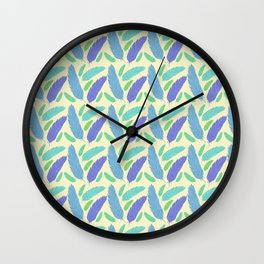 Patterned Feather Pattern Wall Clock