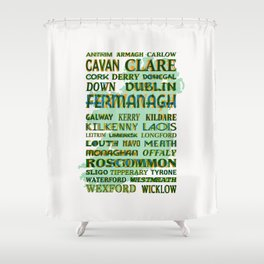 32 Counties Of Ireland Shower Curtain