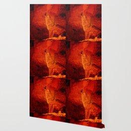 Fire Wolf Wallpaper