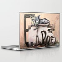 edgar allan poe Laptop & iPad Skins featuring Edgar Allan Poe by Andreas Derebucha