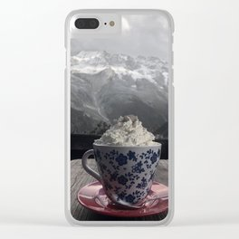 Black and White Cup Clear iPhone Case