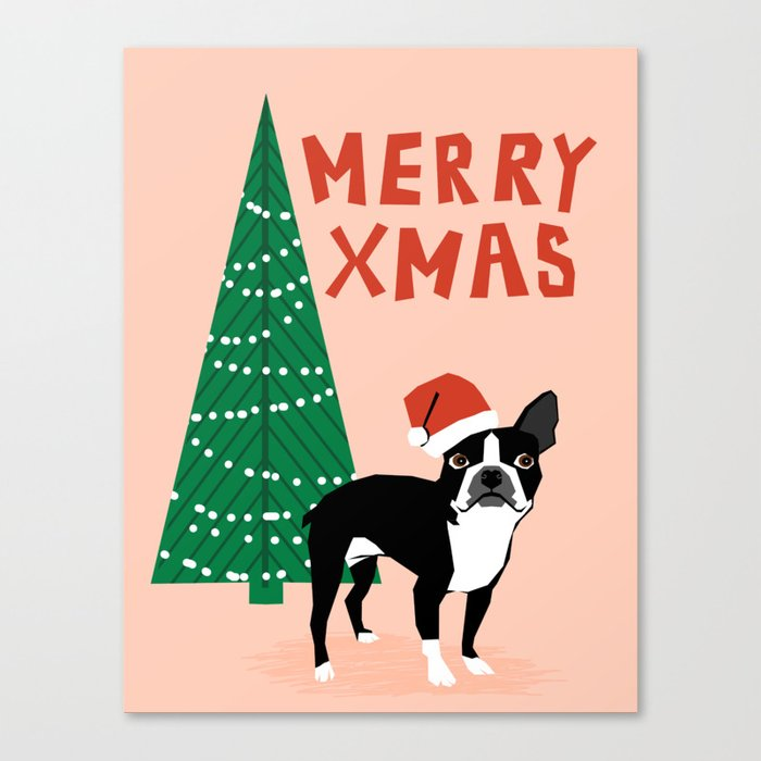 boston terrier xmas christmas tree holiday pet dog lover gift with boston terrier cute santa