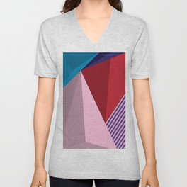 Abstract Modernist Unisex V-Neck