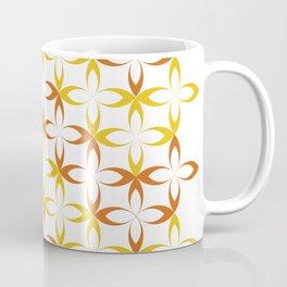 orange sylized schematic flower Coffee Mug