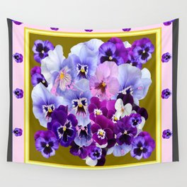 COLORFUL SPRING  PANSIES GARDEN COLLECTION Wall Tapestry