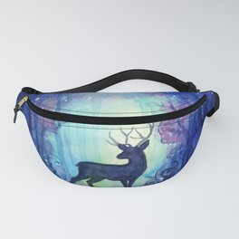 Reindeer in Magical Forest Fanny Pack