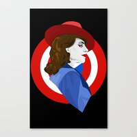 agent carter Canvas Prints featuring Agent Carter by fabulosaurus