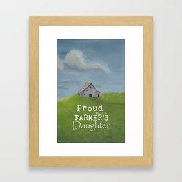 Farmer's Daughter Framed Art Print