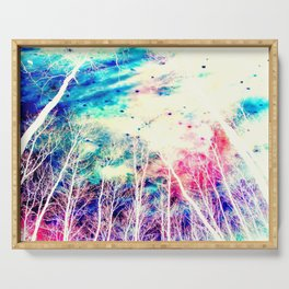 Colorful Forest Serving Tray