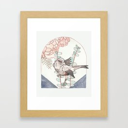 Indigo Bird Framed Art Print