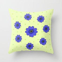Flowers in Grass Throw Pillow