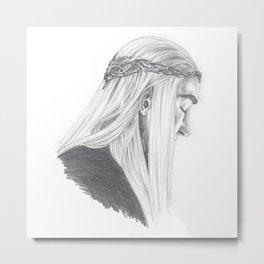 King's Thoughts Metal Print