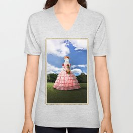 Semolina Sheep on Her Way to the Ball Unisex V-Neck