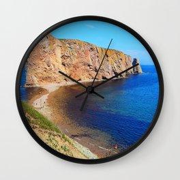Percé Rock Gaspésie  Wall Clock