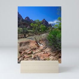 The_Watchman - Spring in Zion_National_Park, UT Mini Art Print