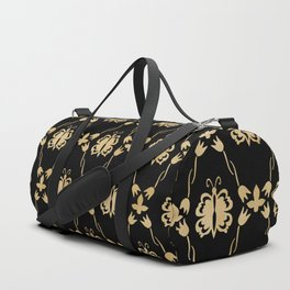 butterfly in tulips Duffle Bag
