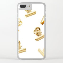 Golden Clips Clear iPhone Case