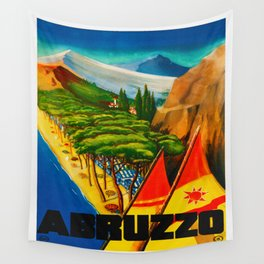 Vintage Abruzzo Italy Travel Wall Tapestry