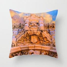 PORTAL dos Templários. Jerónimos Monastery. Throw Pillow