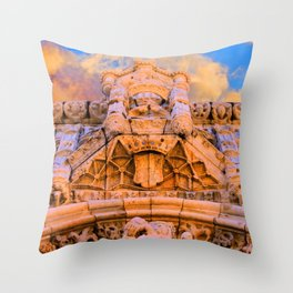PORTAL dos Templários. Jerónimos Monastery. Throw Pillow