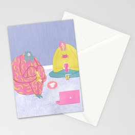 A Perfect Introvert's Evening Stationery Cards