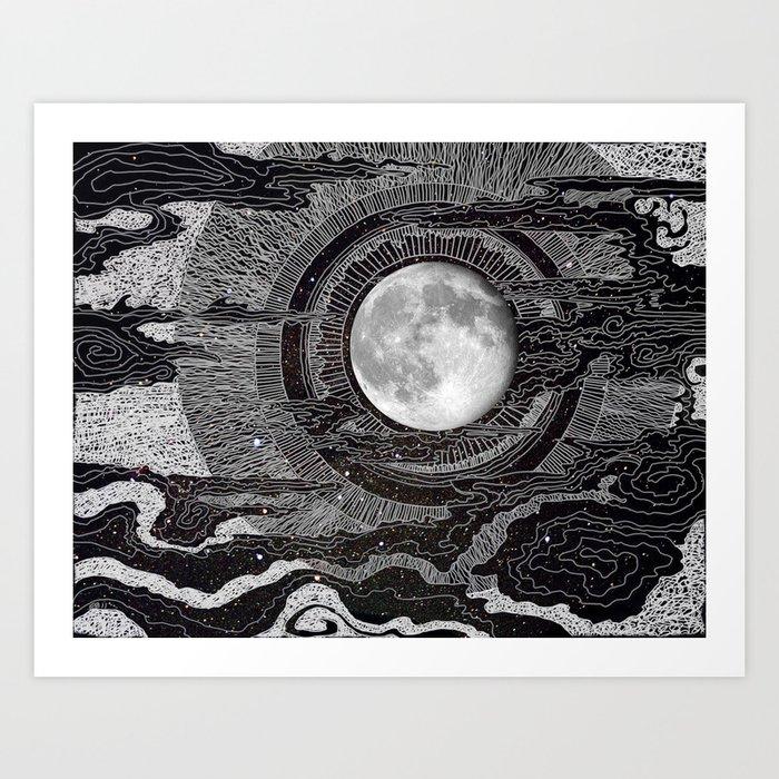 Moon Glow Kunstdrucke