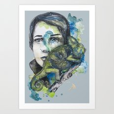 cameleon by carographic Art Print