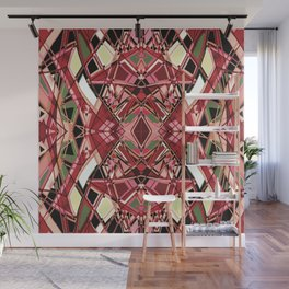 Fragmented Geometric Abstract Design Wall Mural