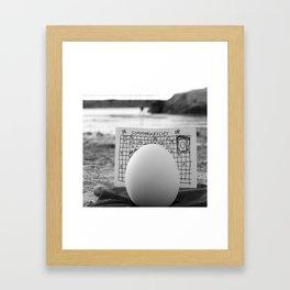 The Crossword Puzzle Framed Art Print