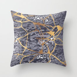Kintsugi # 1 Throw Pillow