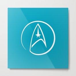 Heathen Trekkie - StarTrek 's Spock Blue Metal Print