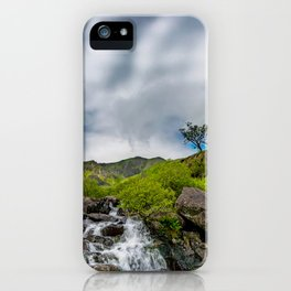 Cwm Idwal Rapids Snowdonia iPhone Case