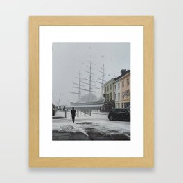 The Clipper in the snow Framed Art Print