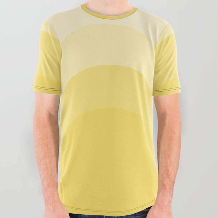 Four_Shades_of_Yellow_Curved_All_Over_Graphic_Tee_by_Shelley_Ylst_Art__Large