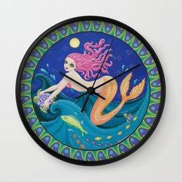 The Midnight Mermaid Wall Clock