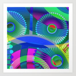 Bright Abstract Art Print