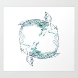 Pisces Swim Art Print