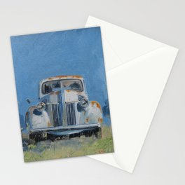 Vintage American truck Stationery Cards