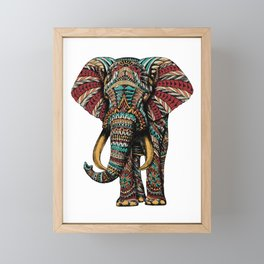Ornate Elephant (Color Version) Framed Mini Art Print