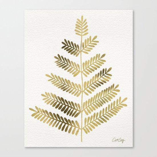 Gold Leaflets Canvas Print