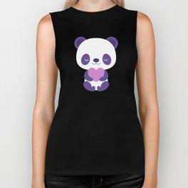 Cute purple baby pandas Biker Tank