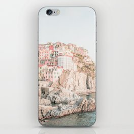 Positano, Italy Amalfi coast pink-peach-white travel photography in hd iPhone Skin